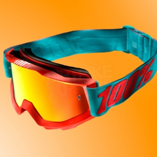 100% Accuri Kids Goggles - Passion Orange JR Clear Lens Image 2