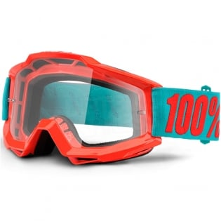 100% Accuri Kids Goggles - Passion Orange JR Clear Lens Image 3