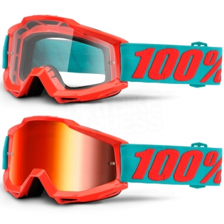 100% Accuri Goggles - Passion Orange Mirror Lens Image 3