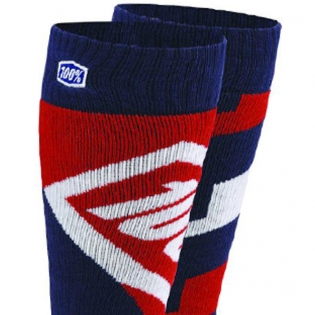 100% Torque Motocross Socks - Red Image 2