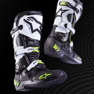 Alpinestars Tech 10 Boots - Black White Image 3