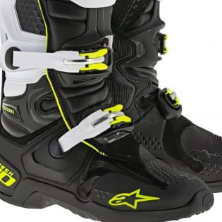 Alpinestars Tech 10 Boots - Black White Image 4
