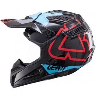 2017 Leatt GPX 5.5 V15 Helmet - Black Blue Image 4