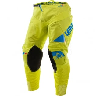 2017 Leatt GPX 4.5 X-Flow Motocross Kit Combo - Lime Blue Image 4