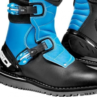 Sidi Zero.1 Trials Boots - Black Light Blue Image 4