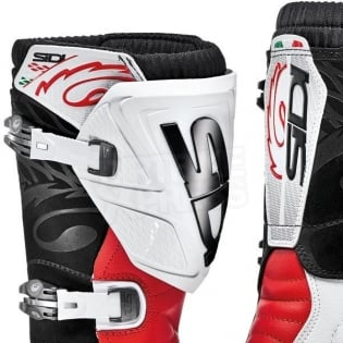 Sidi Zero.1 Trials Boots - White Red Image 2