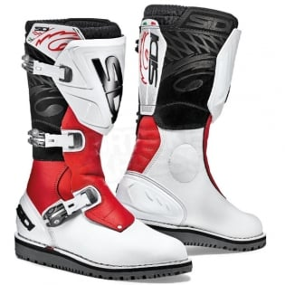 Sidi Zero.1 Trials Boots - White Red Image 3