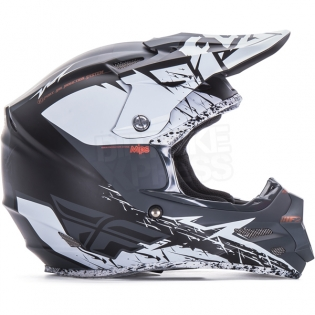 2017 Fly Racing F2 Carbon MIPS Helmet - Matte White Black Image 3