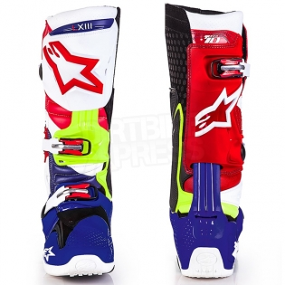 Alpinestars Tech 10 Boots - Ltd MX of Nations Blue Red Image 2