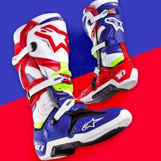Alpinestars Tech 10 Boots - Ltd MX of Nations Blue Red Image 3