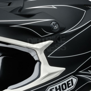 2017 Shoei VFXW Helmet - Hectic Matt Black White TC5 Image 2