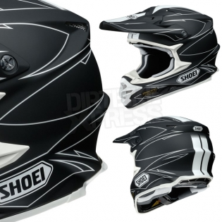 2017 Shoei VFXW Helmet - Hectic Matt Black White TC5 Image 4