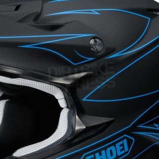 2017 Shoei VFXW Helmet - Hectic Matt Black Blue TC2 Image 2