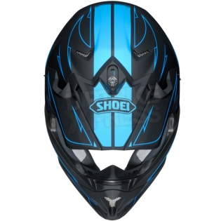 2017 Shoei VFXW Helmet - Hectic Matt Black Blue TC2 Image 3