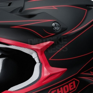 2017 Shoei VFXW Helmet - Hectic Matt Black Red TC1 Image 2