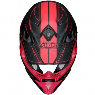 2017 Shoei VFXW Helmet - Hectic Matt Black Red TC1 Image 3