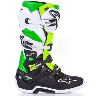 Alpinestars Tech 7 Boots - Ltd Vegas Black White Green Flo Yellow Image 2