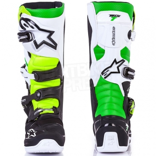 Alpinestars Tech 7 Boots - Ltd Vegas Black White Green Flo Yellow Image 3