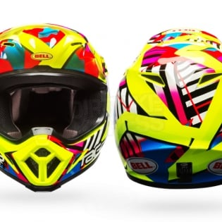 Bell MX9 MIPS Helmet - Tagger Double Trouble Hi-Viz Yellow Image 2