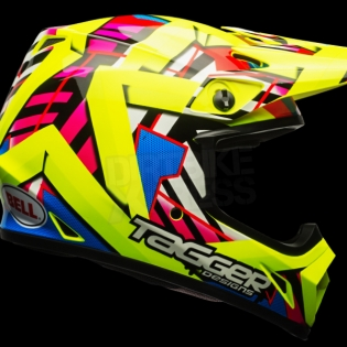 Bell MX9 MIPS Helmet - Tagger Double Trouble Hi-Viz Yellow Image 3
