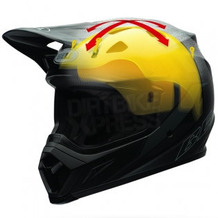 Bell MX9 MIPS Helmet - Tagger Double Trouble Hi-Viz Yellow Image 4