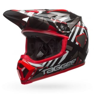 Bell MX9 MIPS Helmet - Tagger Double Trouble Black Red Image 2