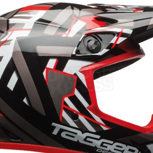 Bell MX9 MIPS Helmet - Tagger Double Trouble Black Red Image 3