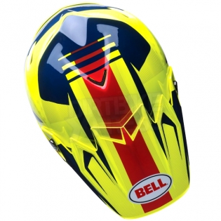 Bell Moto 9 Carbon Flex Helmet - Vice Blue Yellow Image 3