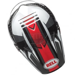 Bell Moto 9 Carbon Flex Helmet - Vice Black White Image 3