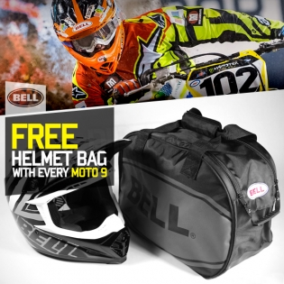 Bell Moto 9 Carbon Flex Helmet - Vice Black White Image 4