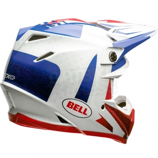 Bell Moto 9 Carbon Flex Helmet - Vice Blue Red Image 3