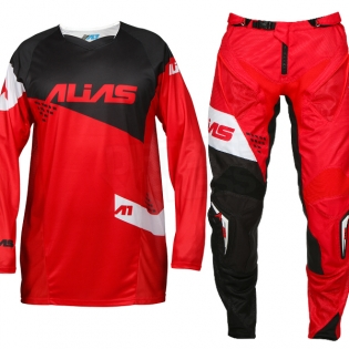 2017 Alias A1 Jersey - The Standard Red Black Image 2