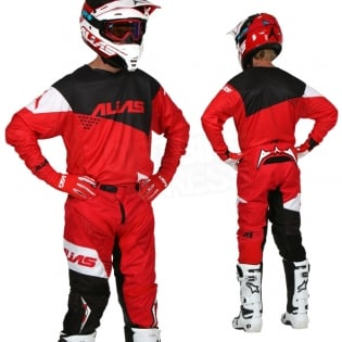 2017 Alias A1 Jersey - The Standard Red Black Image 3