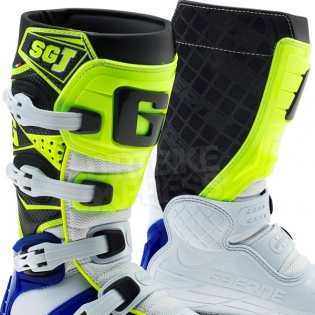 Gaerne SGJ Kids Boots - White Blue Fluo Yellow Image 2
