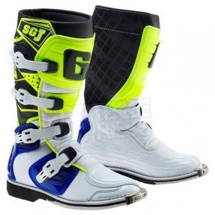 Gaerne SGJ Kids Boots - White Blue Fluo Yellow Image 3