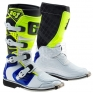 Gaerne SGJ Kids Boots - White Blue Fluo Yellow