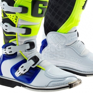Gaerne SGJ Kids Boots - White Blue Fluo Yellow Image 4
