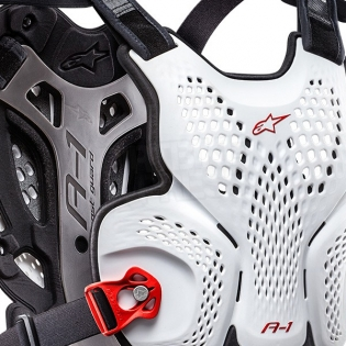 Alpinestars A10 Chest Protector - White Black Red Image 2