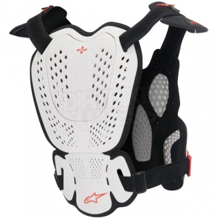 Alpinestars A10 Chest Protector - White Black Red Image 3