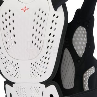 Alpinestars A10 Chest Protector - White Black Red Image 4