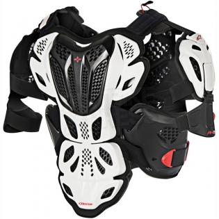 Alpinestars A10 Full Chest Protector - White Black Red Image 3