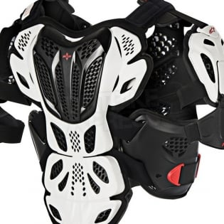 Alpinestars A10 Full Chest Protector - White Black Red Image 4