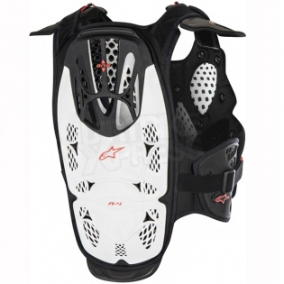Alpinestars A4 Chest Protector - White Black Red Image 3