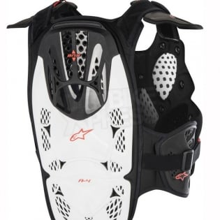 Alpinestars A4 Chest Protector - White Black Red Image 4