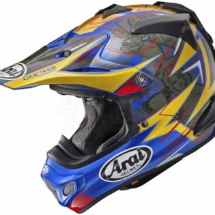 Arai MXV Motocross Helmet - Broc Tickle Trophy Girl Blue Ltd Edition Image 2