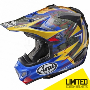 Arai MXV Motocross Helmet - Broc Tickle Trophy Girl Blue Ltd Edition Image 3