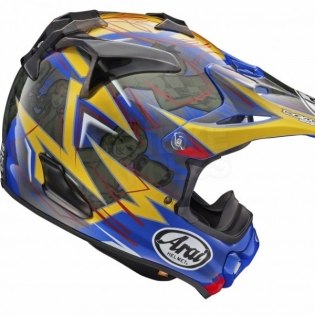 Arai MXV Motocross Helmet - Broc Tickle Trophy Girl Blue Ltd Edition Image 4