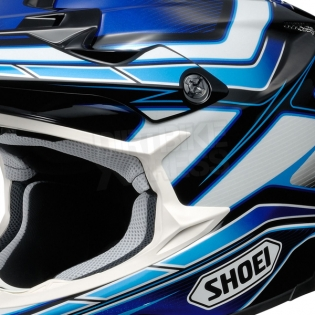 2017 Shoei VFXW Helmet - Capacitor Blue White TC2 Image 2