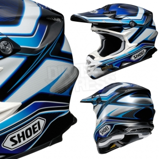 2017 Shoei VFXW Helmet - Capacitor Blue White TC2 Image 4