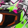 LS2 Fast MX437 Helmet - Strong White Green Pink